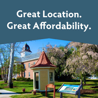 Great location. Great affordability.